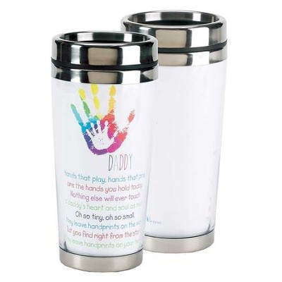 Daddy, Hands That Play, Hands That Pray Travel Mug  -
