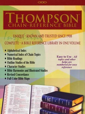 NKJV Thompson Chain-Reference Bible, Black Bonded Leather   -