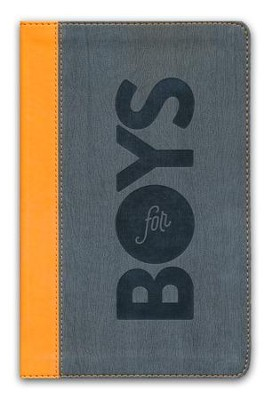 CSB Study Bible for Boys Charcoal/Orange, Wood Design LeatherTouch  -     Edited By: Larry Richards