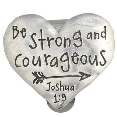 heart joshua 1 9 visor clip christianbook com