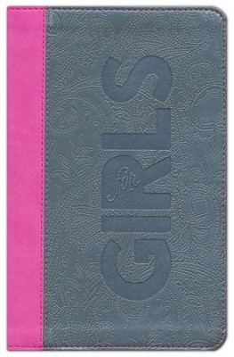 CSB Study Bible for Girls Pewter/Pink, Paisley Design LeatherTouch  -     By: Larry Richards