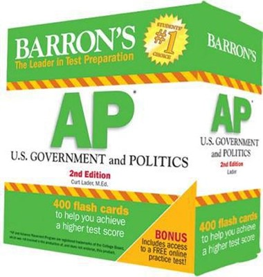 AP US Government & Politics Flash Cards, 2nd Edition  -     By: Curt Lader