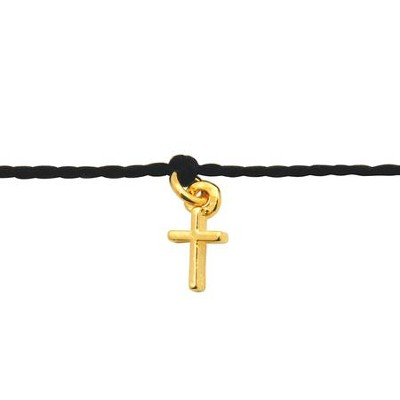 Mini Thin Cross, Cord Bracelet  -