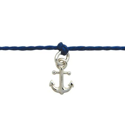 Mini Anchor, Cord Bracelet  -