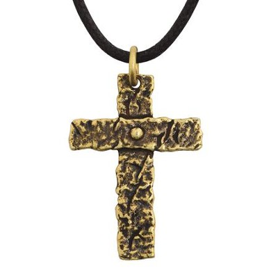 The Broken Road Cross, Brass Plated Pendant  -     By: Bob Siemon