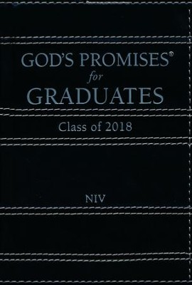 NIV God's Promises for Graduates, Class of 2018, Hardcover, Black  -     By: Jack Countryman