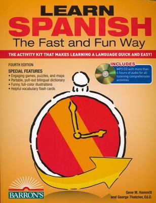 Learn Spanish the Fast and Fun Way, Fourth Edition--Book and CDs  -     By: Gene Hammitt