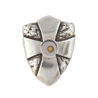 Pewter Pin - Mustard Seed Shield  -     By: Bob Siemon