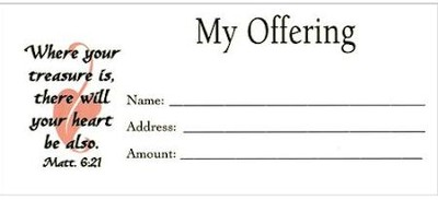 My Offering, Offering Envelopes, Pkg. of 100, small (4 1/4  inch x 2 1/2 inch)  -