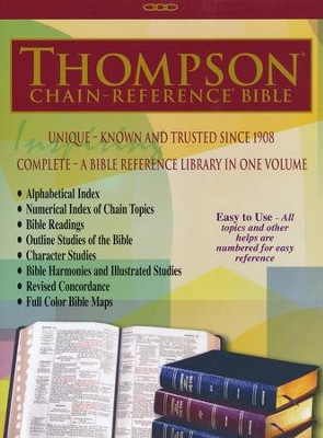 NKJV Thompson Chain-Reference Bible, Black Bonded Leather,  Thumb-Indexed  -