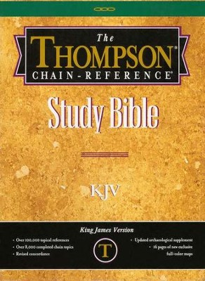 KJV Thompson Chain-Reference Bible, Burgundy  Bonded Leather, Thumb Indexed  -