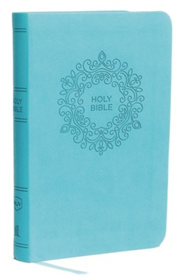 NKJV Value Compact Thinline Bible, Imitation Leather, Blue  -