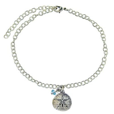 Pewter Anklet - Sand Dollar  -     By: Bob Siemon