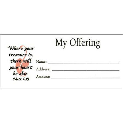 My Offering, Envelopes, Pack of 100, Bill size  -