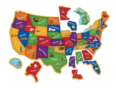 Magnetic U.S. Map Puzzle  -