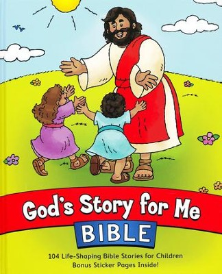 God's Story for Me Bible, Updated: 104 Life-Shaping  Bible Stories for Children  -