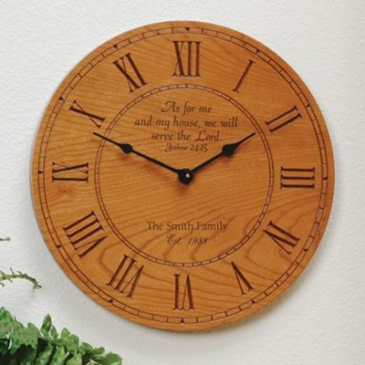 Personalized Clock: As for Me and My House  -