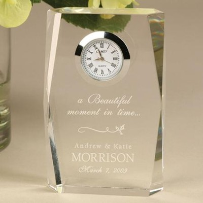 Personalized, Beautiful Moment Wedding Clock   -
