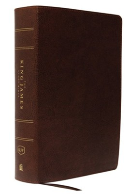 KJV Study Bible Full-Color Edition, Bonded Leather, Brown  -