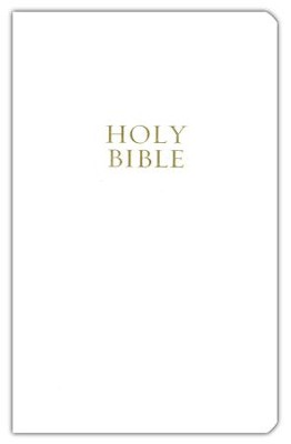 NKJV Gift and Award Bible, Imitation Leather White   -