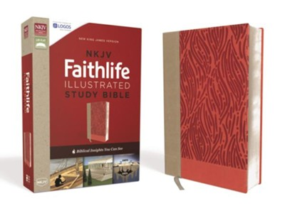 NKJV Faithlife Illustrated Study Bible--soft leather-look, pink  -     Edited By: John D. Barry, Douglas Mangum, Derek R. Brown, Michael S. Heiser     By: John D. Barry & Douglas Mangum