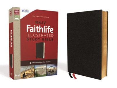 NKJV Faithlife Illustrated Study Bible--bonded leather, black  -     Edited By: John D. Barry, Douglas Mangum, Derek R. Brown, Michael S. Heiser
