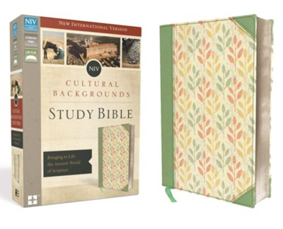NIV Cultural Backgrounds Study Bible, Imitation Leather, Sage/Leaves  -     By: Craig Keener, John Walton