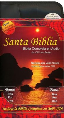 Santa Biblia Completa RV 2000, 64 CDs de Audio / 2 CDs MP3   (RV 2000 Complete Holy Bible, 64 Audio CDs / 2 MP3 CDs)  -     By: Juan Ovalle