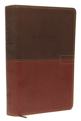 NKJV Know The Word Study Bible, Imitation Leather, Brown/Caramel  -