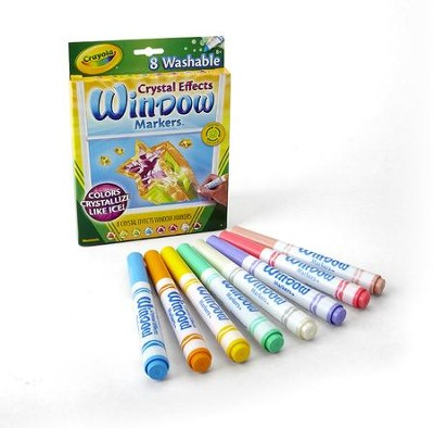 Crayola, Crystal Effects Window Markers, 8 Pieces  -