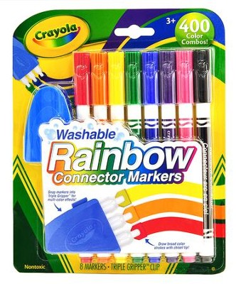 Crayola, Washable Rainbow Connector Markers  -