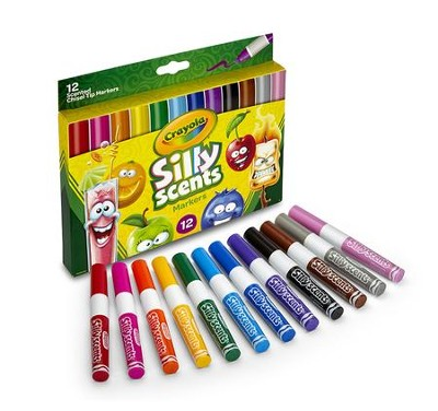 Silly Scents, Chisel Tip Washable Markers, 12 pieces  -