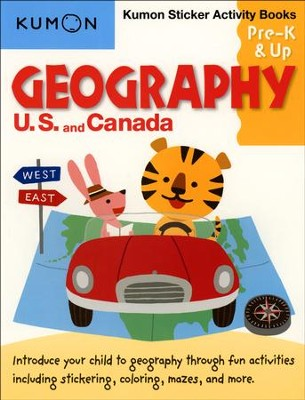 Geography: U.S. and Canada Sticker Activity Book, Grades Pre-K & Up  -