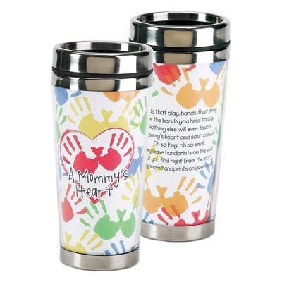 A Mommy's Heart, Hands That Play, Hands That Pray Travel Mug  -