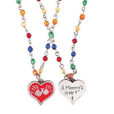A Mommy's Heart, Hands That Play, Hands That Pray Necklace  -