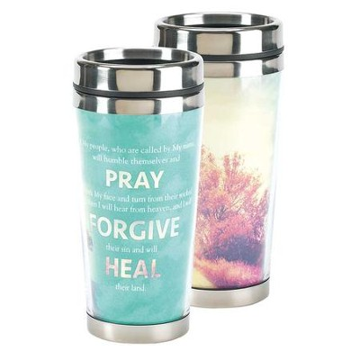 Pray Forgive Heal, Travel Mug  -