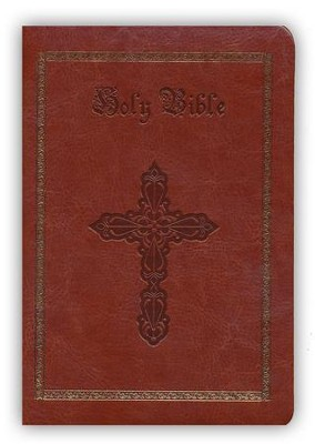 KJV Compact Bible, Brown Imitation Leather  -