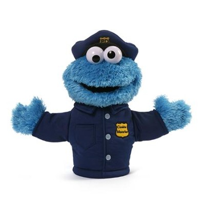 Cookie Monster Policeman Puppet  -