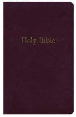 NKJV Giant-Print Personal-Size Reference Bible; Imitation Leather Burgundy  -