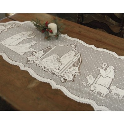 Silent Night--Lace Table Runner   -