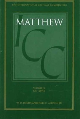 Matthew 19-28, International Critical Commentary   -     By: W.D. Davies