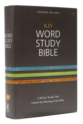 KJV Word Study Bible, Hardcover, Red Letter Edition  -