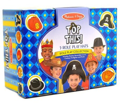 Top This! Role Play Hats, Brown and Black  -
