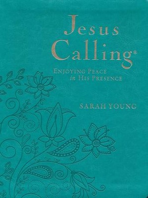 Jesus Calling, Large Print - Imitation Leather,  Turquoise  -     By: Sarah Young