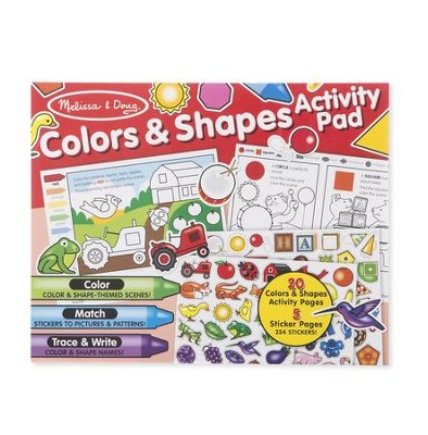 Colors and Shapes Activity Pad  -