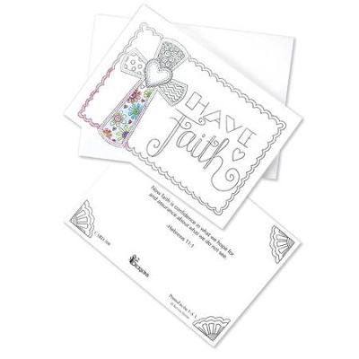 Coloring, Have Faith Note Cards, Box of 10  -