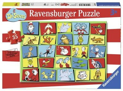 Dr. Seuss Characters Puzzle, 35 Pieces  -