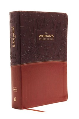 The NKJV Woman's Study Bible, Imitation Leather Brown/Burgundy, Full-Color  -