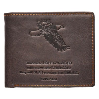 Isaiah 40:31 Genuine Leather Wallet  -