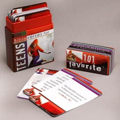 101 Favorite Bible Verses for Teens, Box of Blessings  -